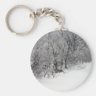 Snowy Woods Keychain