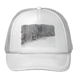 Snowy Woods Solid White Hat