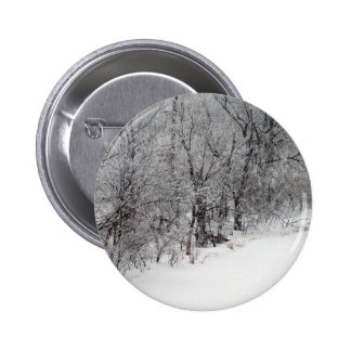 Snowy Woods Standard Round Button