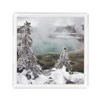 Snowy Yellowstone Acrylic Tray