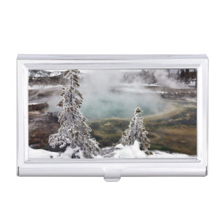 Snowy Yellowstone Business Card Holder