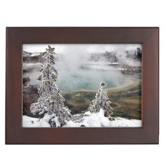 Snowy Yellowstone Keepsake Box