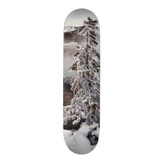 Snowy Yellowstone Skateboard