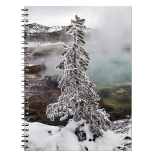 Snowy Yellowstone Spiral Notebook