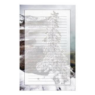 Snowy Yellowstone Stationery