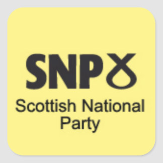 SNP Scottish National Party Square Sticker
