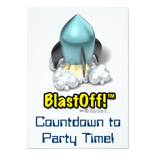 SNUB Launcher™ Rocket Icon Party Invitations