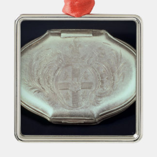 Snuff box embossed with a coat of arms, c.1820 christmas ornament