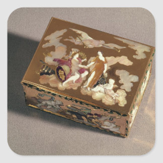 Snuff box square stickers