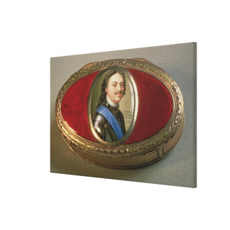 Snuff box with portrait miniature of Peter Canvas Print