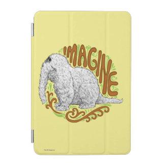 Snuffleupagus B&W Sketch Drawing iPad Mini Cover