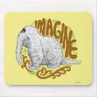 Snuffleupagus B&W Sketch Drawing Mouse Mat