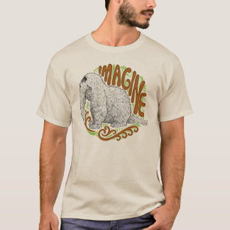 Snuffleupagus B&W Sketch Drawing T-Shirt