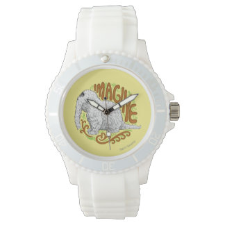 Snuffleupagus B&W Sketch Drawing Wristwatches