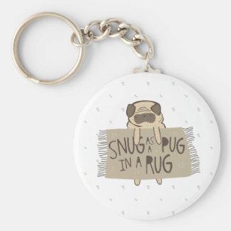 Snug as a Pug in a Rug Keychains