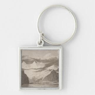 Snug Corner Cove, Alaska Silver-Colored Square Key Ring