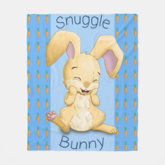 Snuggle Bunny Blue Fleece Blanket