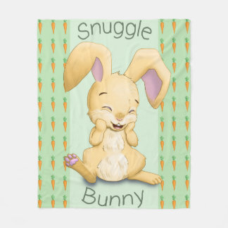 Snuggle Bunny Green Fleece Blanket