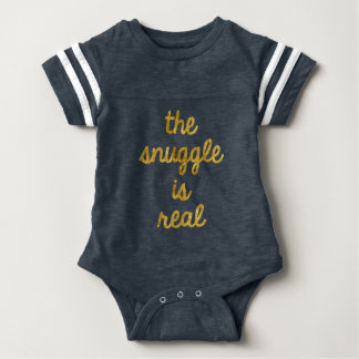 Snuggle Is Real Baby Bodysuit