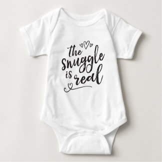 Snuggle is Real Funny Quote Baby Bodysuit