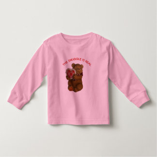 Snuggle is Real Teddy Bear Toddler T-Shirt
