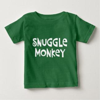 Snuggle Monkey Baby T-Shirt