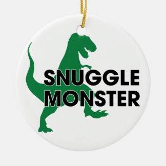 Snuggle Monster Round Ceramic Decoration