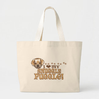 Snuggle Puggle Shirts and Gifts Tote Bags
