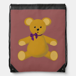 Snuggle the Teddy Bear Drawstring Bag