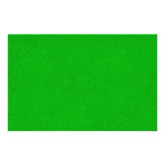 "Snuggly Bright Neon Green Ultrasuede Look 5.5"" X 8.5"" Flyer"