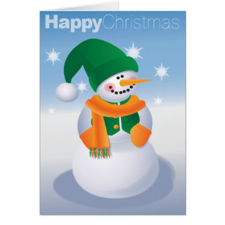 Snuggly Snowman Card