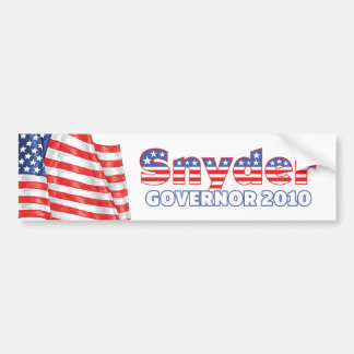 Snyder Patriotic American Flag 2010 Elections Bumper Sticker