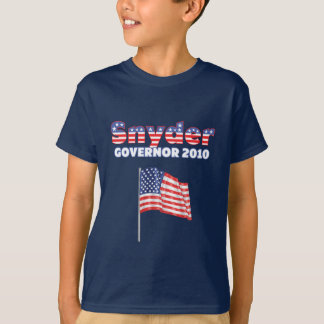 Snyder Patriotic American Flag 2010 Elections Shirt
