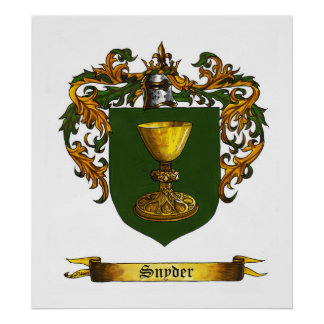 Snyder Shield / Coat of Arms Posters