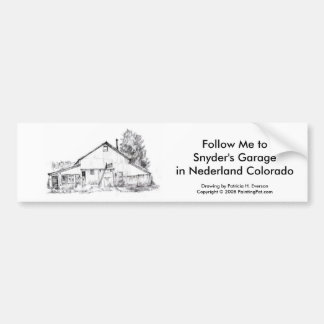 Snyder's Garage, Bumber Sticker