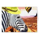 So a Zebra travels to the desert