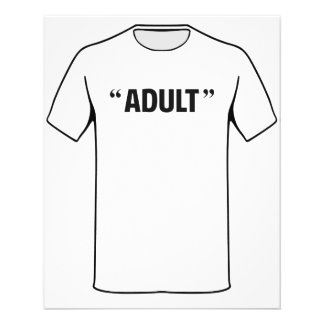 So Called Adult Quotation Marks 11.5 Cm X 14 Cm Flyer