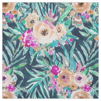 SO CASUAL Dark Tropical Floral Fabric