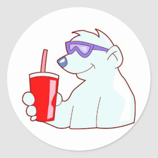 So Cool He is Frozen Classic Round Sticker