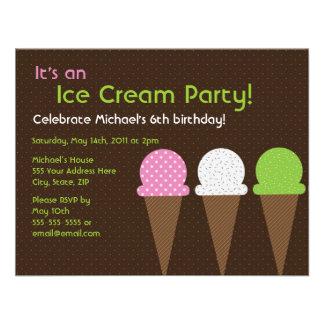 So Cool Ice Cream Party Invitation - 4 25 x 5 5