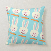 So Cute Bunnies and Carrot Pattern Cushion