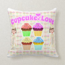So Cute Cupcake Love Too Cushion