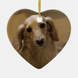 So Cute Dachschund Puppy Christmas Ornament
