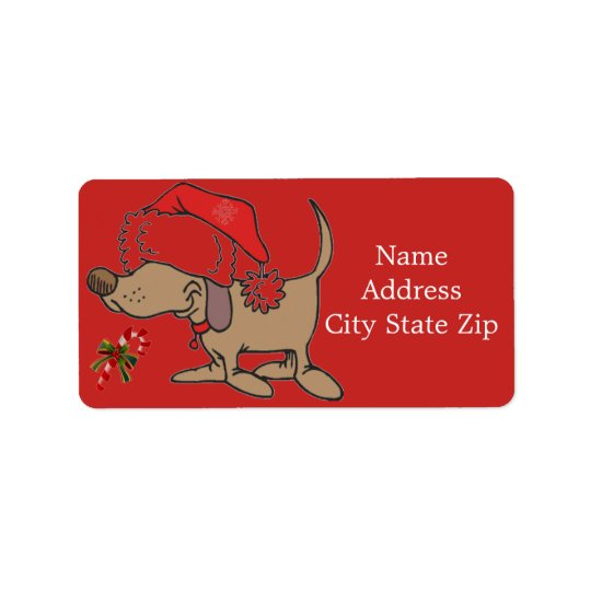 "*SO CUTE DOG-GONE CHRISTMAS "" ADDRESS LABEL"