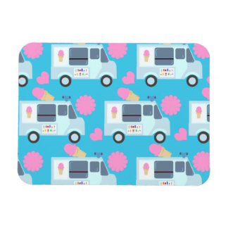 So Cute Ice Cream Truck Pattern Rectangular Photo Magnet