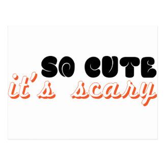 so cute it's scary postcard