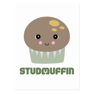 so cute kawaii stud muffin postcard