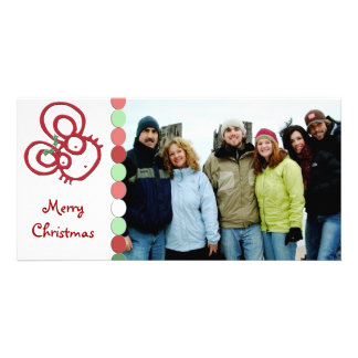 So Cute Merry Christmas Mouse Photo Greeting Card