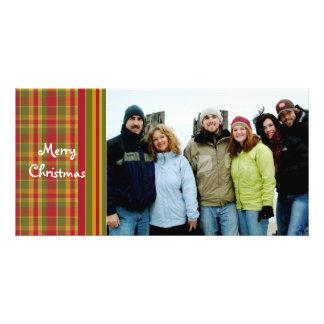 So Cute Red Plaid Merry Christmas Card