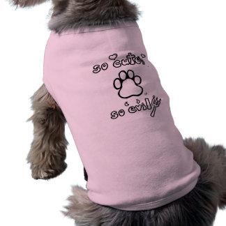So Cute, So Evil Sleeveless Dog Shirt